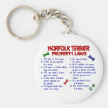 NORFOLK TERRIER Property Laws 2 Key Chains