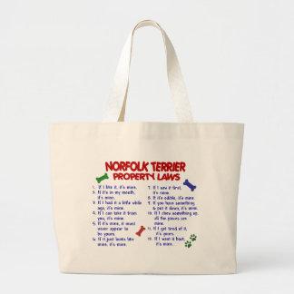 NORFOLK TERRIER Property Laws 2 Large Tote Bag