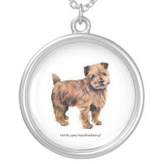 Norfolk Terrier Round Pendant Necklace