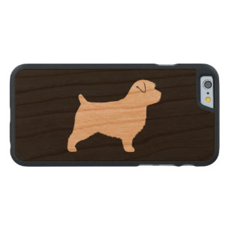 Norfolk Terrier Silhouette Carved Cherry iPhone 6 Slim Case