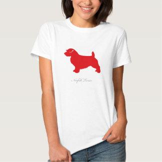 Norfolk Terrier T-shirt (red silhouette)