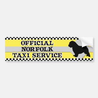 Norfolk Terrier Taxi Service Bumper Sticker Car Bumper Sticker
