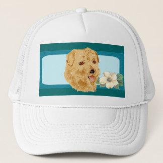 Norfolk Terrier - Turquoise Floral Design Trucker Hat