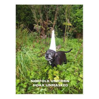 Norfolk Unicorn Hoax Unmasked Postcard