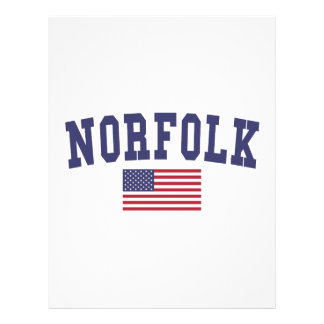 Norfolk US Flag Letterhead