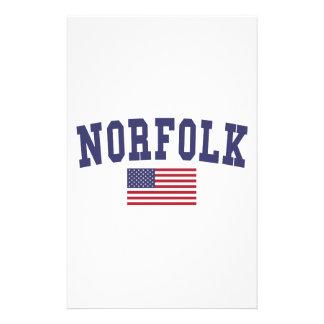 Norfolk US Flag Stationery
