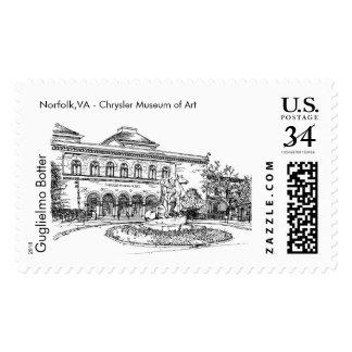 Norfolk, VA: Chrysler Museum of Art Postage Stamp