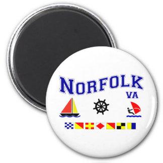Norfolk VA Signal Flags 2 Inch Round Magnet