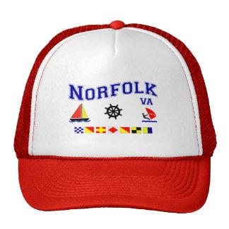 Norfolk VA Signal Flags Trucker Hat