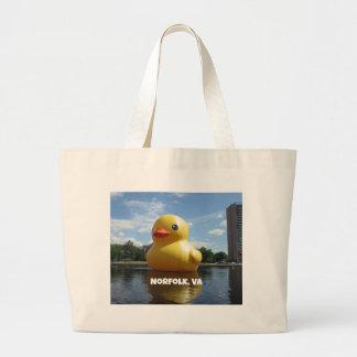 Norfolk, Virginia (Duck) Large Tote Bag