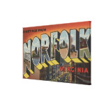 Norfolk, Virginia - Large Letter Scenes Canvas Print
