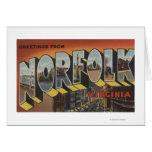 Norfolk, Virginia - Large Letter Scenes Greeting Card