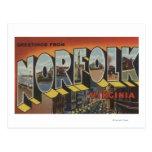 Norfolk, Virginia - Large Letter Scenes Postcard