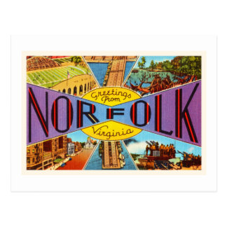 Norfolk Virginia VA Old Vintage Travel Postcard- Postcard