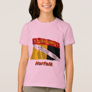 Norfolk Waving Flag with Name T-Shirt