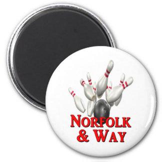 Norfolk & Way Bowling Refrigerator Magnets