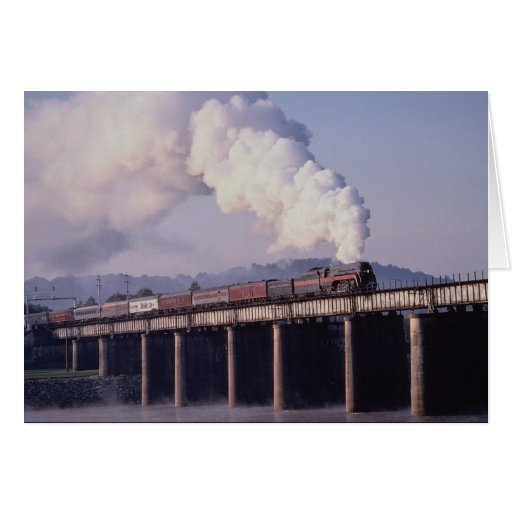 Norfolk & Western No. 611 crosses the Tennessee Ri Greeting Card