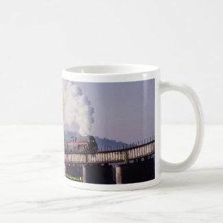 Norfolk & Western No. 611 crosses the Tennessee Ri Classic White Coffee Mug