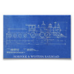 NORFOLK & WESTERN RAILROAD ENGINE NO.521  POSTER