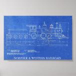 NORFOLK & WESTERN RAILROAD ENGINE NO.521  PRINT