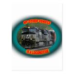 Norfolk y locomotora meridional postal