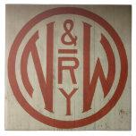 Norfolk y teja ferroviaria occidental del logotipo