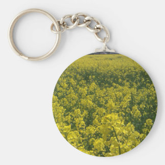Norfolk yellow rape flower field keychain