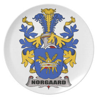 Norgaard Family Crest Party Plates