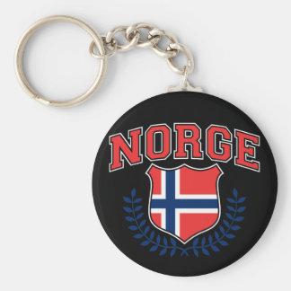 Norge Basic Round Button Keychain