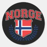 Norge Etiqueta Redonda
