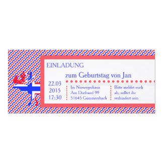 Norge Noruega invitación
