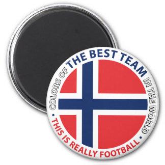 Norge Norway Art Shield Imán Redondo 5 Cm