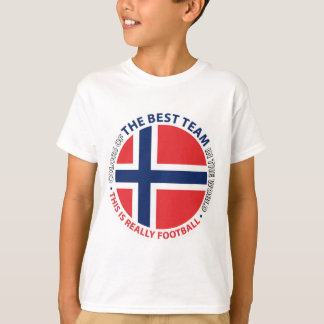 Norge Norway Art Shield T-Shirt