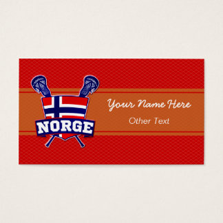Norge Norway Lacrosse Custom Business Cards