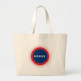 Norge Norway Large Tote Bag