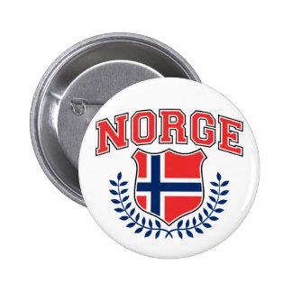 Norge Pin Redondo De 2 Pulgadas