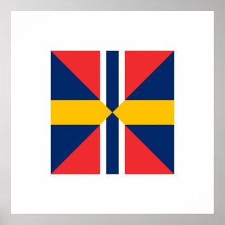 Norge Sverige Sildesalaten, Noruega Poster