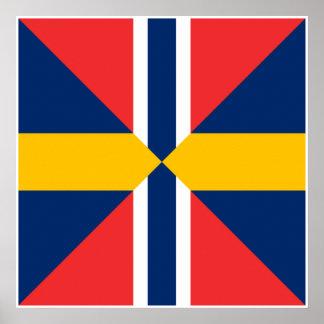 Norge Sverige Sildesalaten, Norway Posters