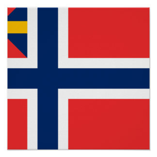 Norge Unions g 1844, Norway Poster