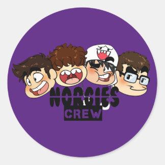 Norgies Crew Small Circle Sticker Set