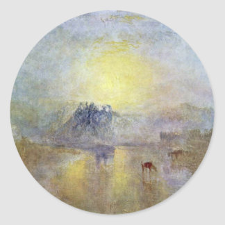 Norham Castle At Sunrise By Turner Joseph Mallord Round Sticker