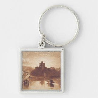Norham Castle, engraved by Charles Turner (1773-18 Keychain