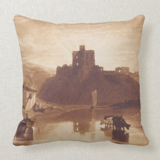 Norham Castle, engraved by Charles Turner (1773-18 Pillow