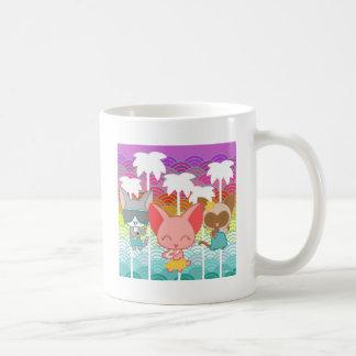 Nori Chan-Palm Trees Classic White Coffee Mug
