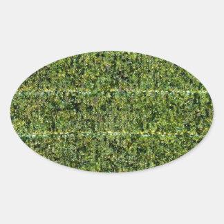 Nori - Dried Seaweed For Sushi Oval Sticker