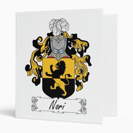Nori Family Crest 3 Ring Binders