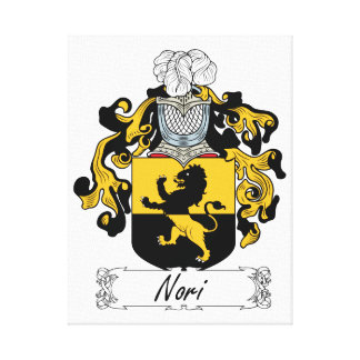 Nori Family Crest Stretched Canvas Prints