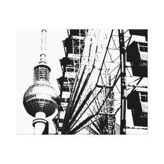 Noria con la torre de Berlín TV, Alex Lienzo Envuelto Para Galerías