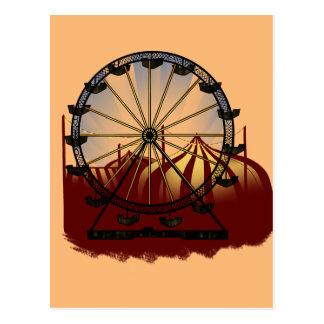 Noria del carnaval de la escuela vieja tarjetas postales
