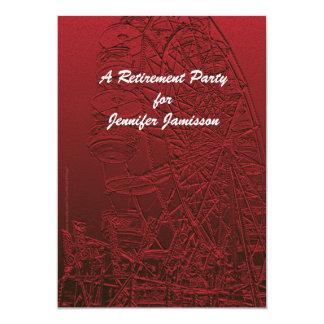 Noria del rojo de la invitación del fiesta de